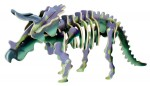 DREWNIANE PUZZLE 3D DINOZAURY TRICERATOPS