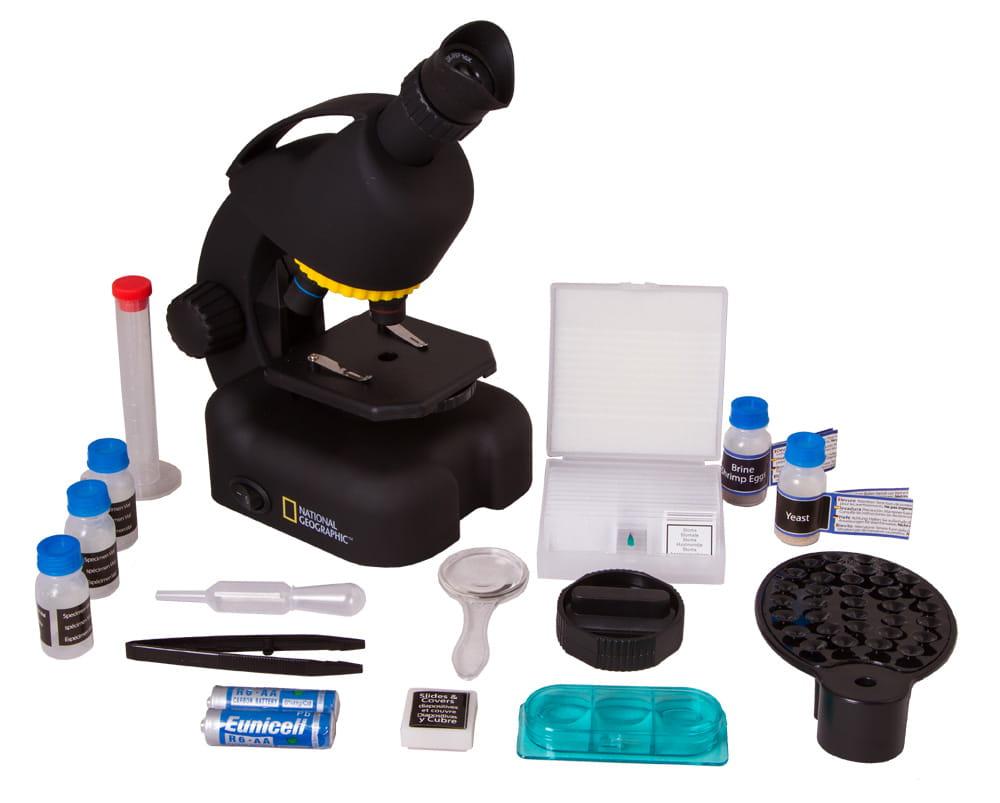 Mikroskop dla dzieci bresser national geographic 40u2013640x z adapterem