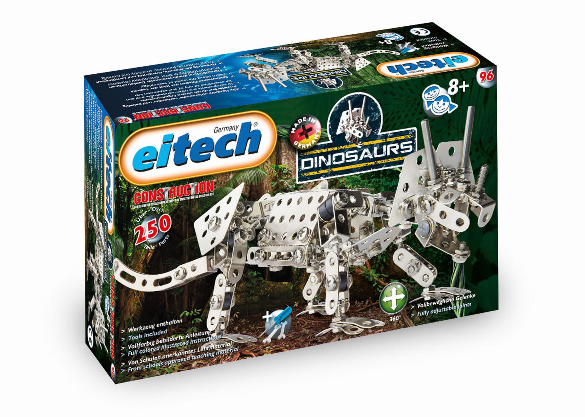 Triceratops Dinozaur Metalowe Klocki Konstrukcyjne Eitech